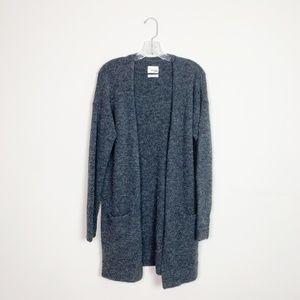 Aritzia | italian yarn long-line cardigan grey S